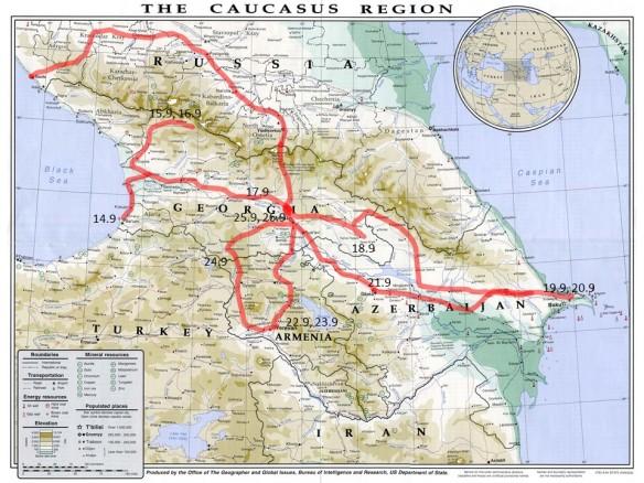 KaukasusReitit19