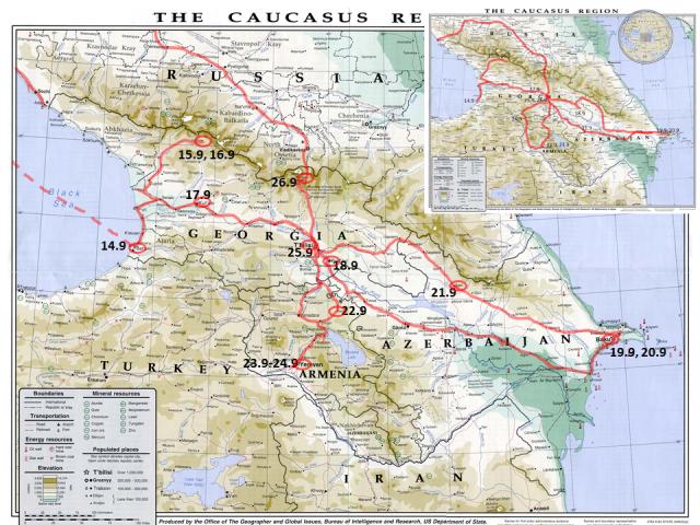 KaukasusReitit19Toteut
